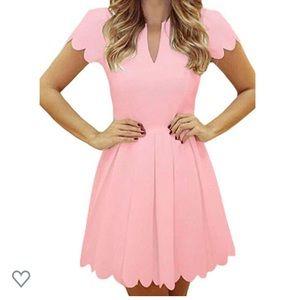 Pink Scallop Dress